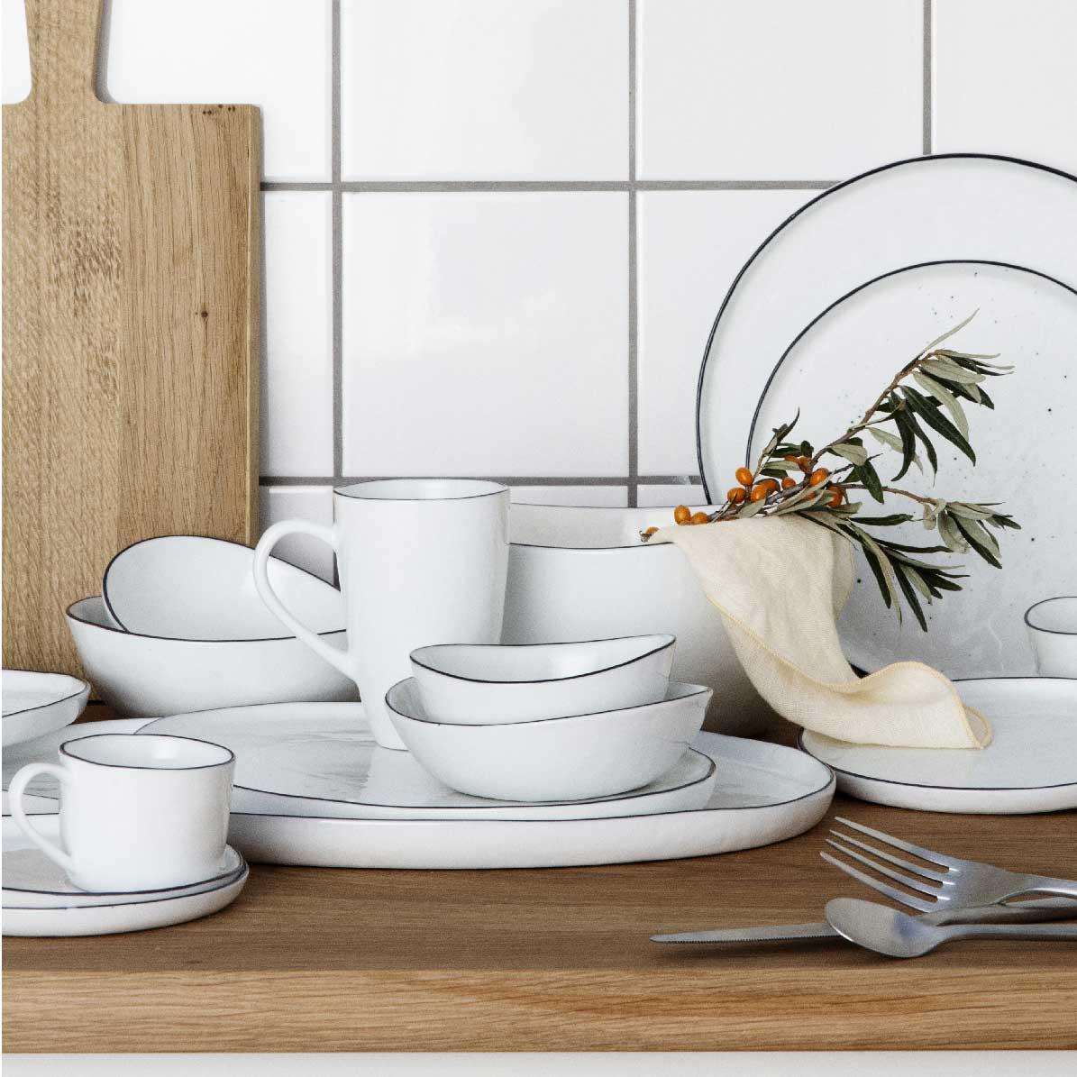 Broste Copenhagen   Design Salt   Tasse mit Unterteller  Online ...