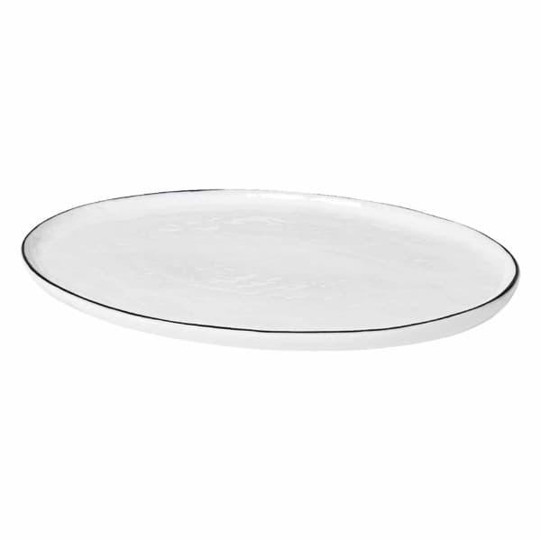 broste copenhagen servierplatte oval 30 cm salt aus. Black Bedroom Furniture Sets. Home Design Ideas