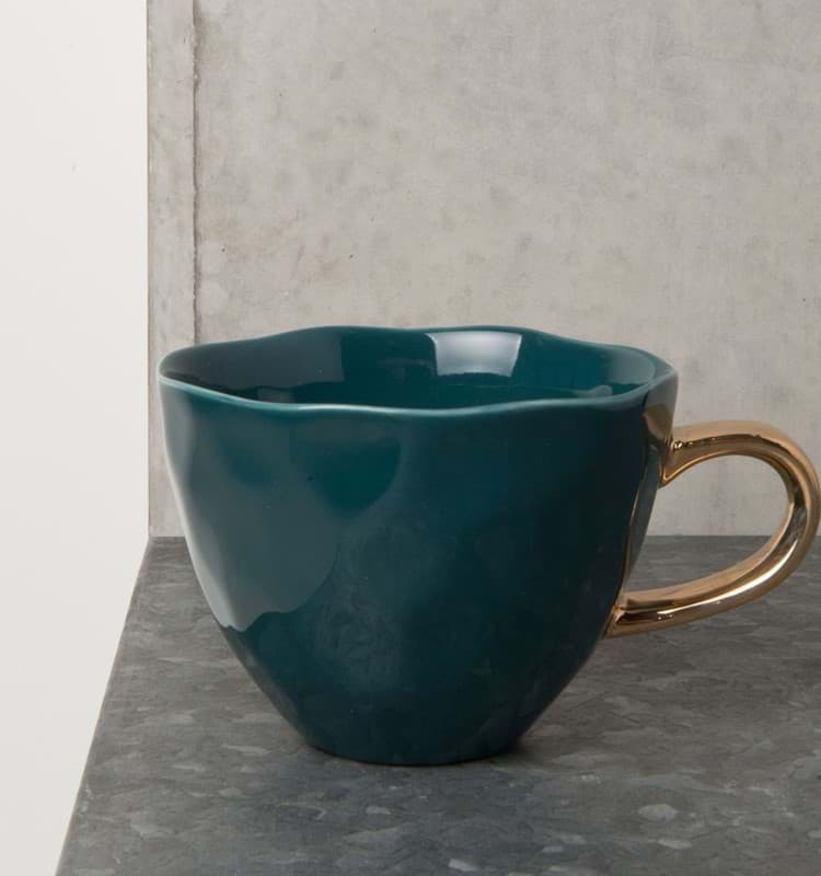 Bild von Henkeltasse 'Good Morning' Petrol von Urban Nature