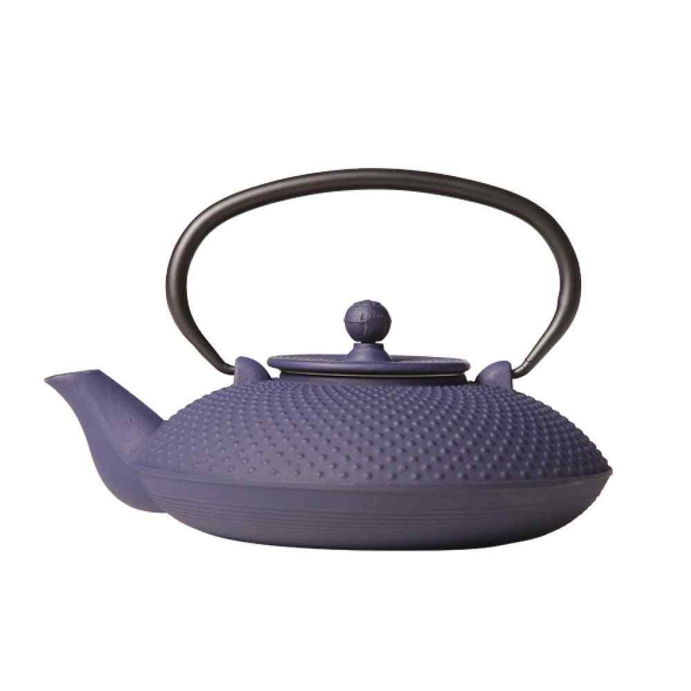 Teekanne aus Gusseisen blau 0,8 ltr