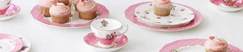 royal albert porzellan cheeky pink kaffee und teeservice steingut und geschirr broste. Black Bedroom Furniture Sets. Home Design Ideas